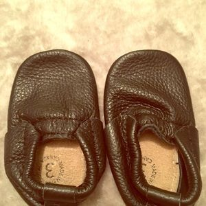 Black Minimoc Size 3 Baby Shoe Moccasins